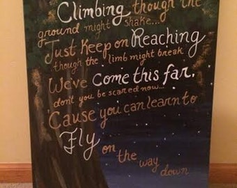Country Lyrics Canvas