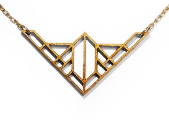 Laser Cut Wooden Necklace : #10
