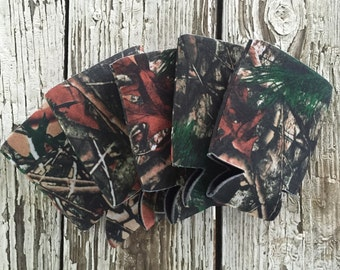 25 Blank Camo Beverage Insulators   Can Coolies   FREE SHIPPING