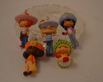 5 Strawberry Shortcake Christmas Ornaments