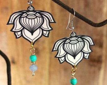 earrings Lotus