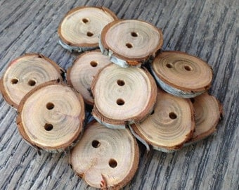 Wood Branch Buttons