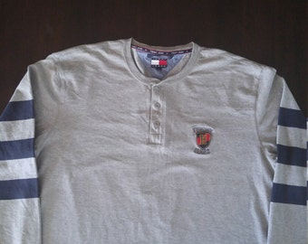 Tommy Jeans long sleeved button down t- shirt vintage