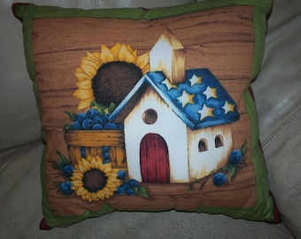 Decorative 2-sided pillow, filled - no need for pillow form