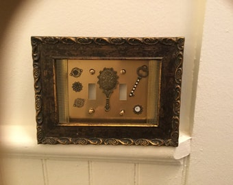 Light switch cover, home decor ornate, light switch plate