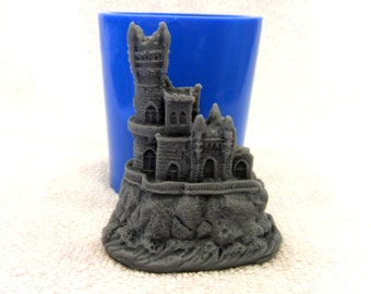 Old castle - silicone mold for soap and candles making mould molds soap mold