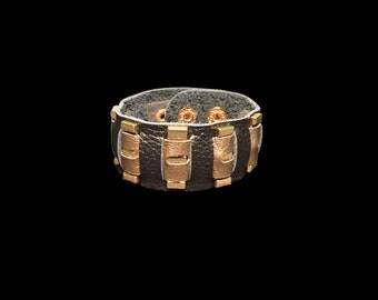 Black Gold Studded Scarf Cuff