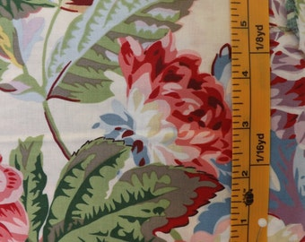 Rowan Fabrics, Phillip Jacobs, Pom Pom Dahlias, PJ38 Natural, quilting fabric