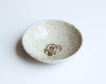Handmade Bowl dotted ceramic. Unique.
