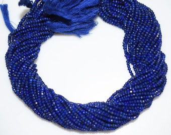 Good Quality Lapis Rondelle Beads 13 Inch Strand ,Lapis Faceted Rondelle Beads , 3 mm - MC327