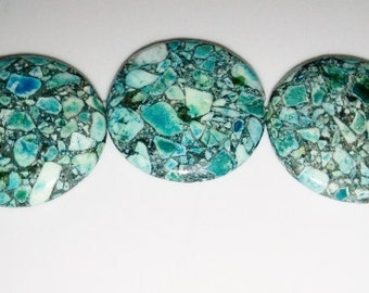 SALE! Blue stone beads 35mm coin beads 35mm stone beads blue beads semiprecious stone semiprecious beads pendant beads