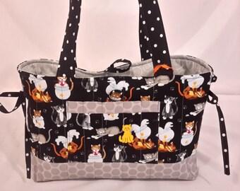 Playful kittens mini bow tucks purse