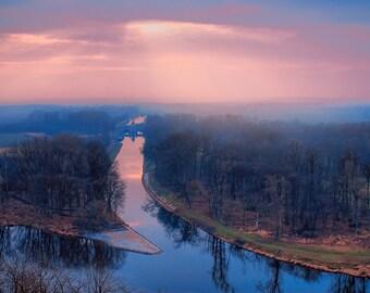 Foggy landscape. River. Digital photo, instant download, printable, art print, fine art photography, landscape, river, fog, foggy morning
