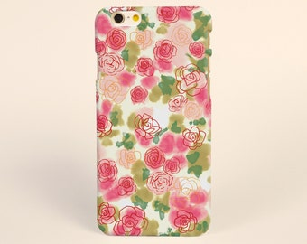 iPhone 7 Plus case floral Flowers pink rose iPhone 7 case iPhone 6s Case iPhone 6 Case iPhone 6s plus Case Phone Case, 3D tough iPhone Cases