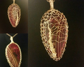 Willow in the Wind on Purple Stipe Agate