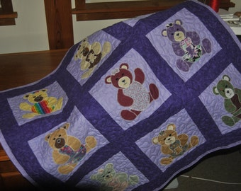 Pieced - Applique - Quilted Baby Quilt
