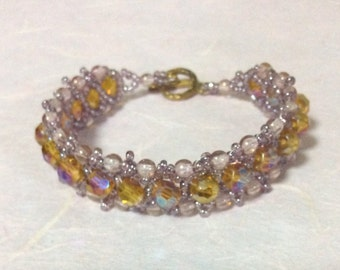 Golden Hand stitched bracelet