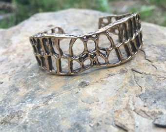 Alligator breast plate patterned cuff (MADE TO ORDER)