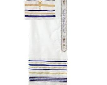 Blue Prayer Shawl & Bag-From Israel