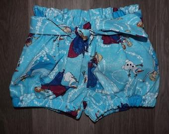 Disney Frozen Anna & Elsa Inspired high waisted shorts.
