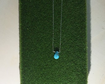 Sterling silver and turquoise layering necklace
