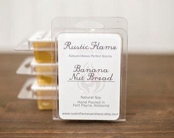 Banana Nut Bread Soy Wax Melts - Bakery Scented Candle Melts - Banana Soy Wax Melts - Breakaway Wax Tarts - Soy Tart Melts - Food Scents