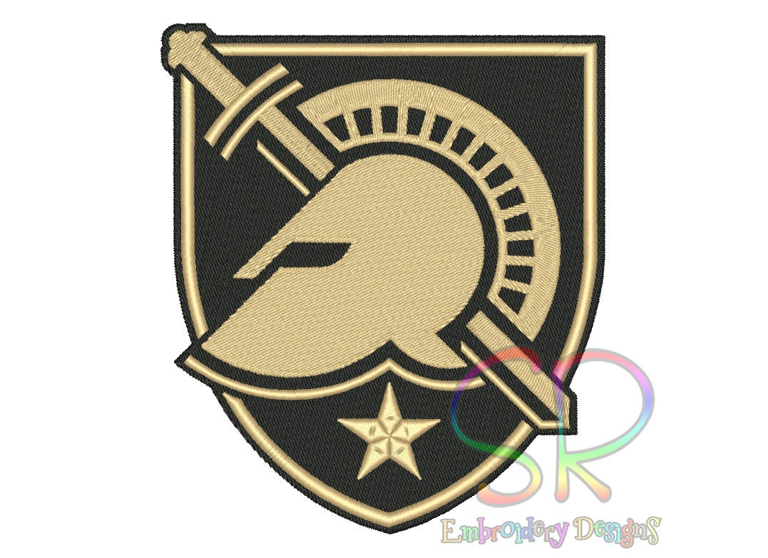 5 Size Army Black Knights Embroidery Designs College