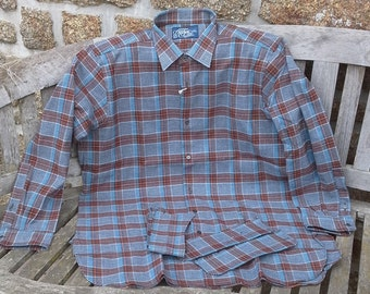 Vintage French Farmers Check Shirt