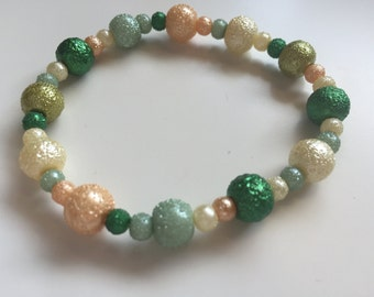 Handmade Textured Beaded Bracelet