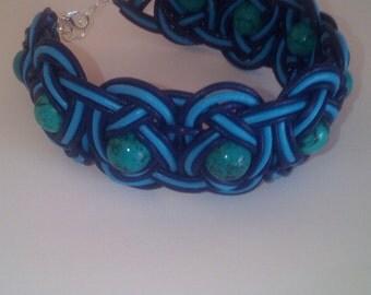Shamballa bracelet with turquoise