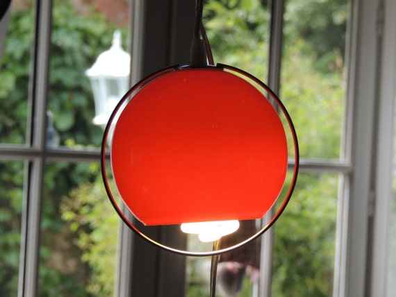 Lamp has suspend pending wired red modern deco House loft eye ball red pilot lights