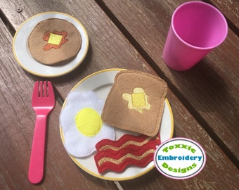 ITH Felt Breakfast Play Food Set - Machine Embroidery Design