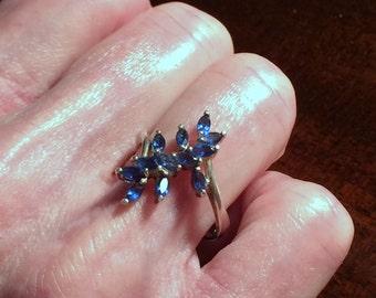 Sapphire Blue Ladies Ring size 7  #214