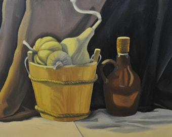 Pumpkin and Gourd Painting- Still Life