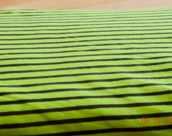 Jersey striped stripes green/olive by Hilco