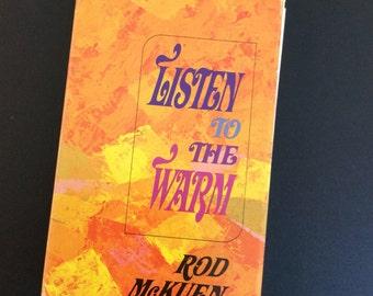 Listen To The Warm,Rod McKuen,Poetry Book, Love Poems,Poems,Daily Poems, Rod McKuen Poems, Friendship Poems, Poem Book, Romantic Poems