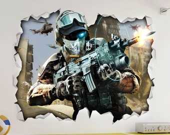 Call of Duty 3 COD Wall Vinyl Poster Sticker - Bedroom Game Room Mural Man Cave
