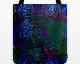 NEON ROSE 2- Tote Bag
