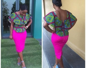 Ankara Cape Blouse
