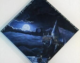 Hand Painted Graduation Cap