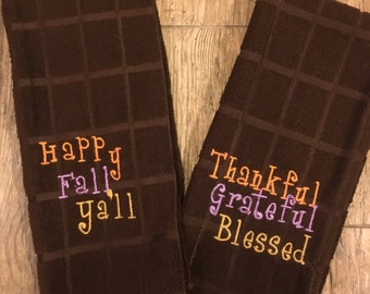 Fall Kitchen hand towel!
