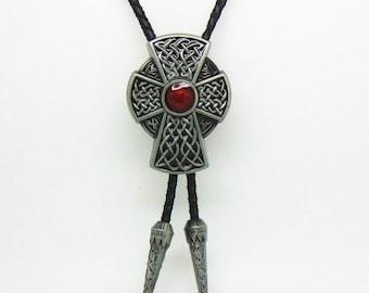 Cross Crucifix Artistic Bolo Tie