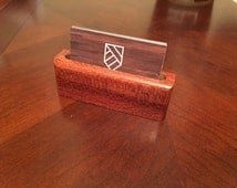 Hardwood Business Card Holders-- Australian Lacewood