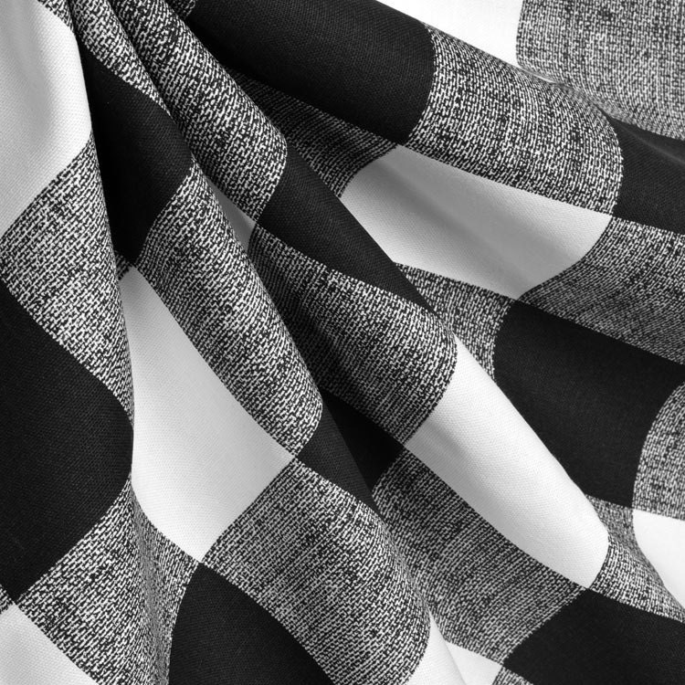 Black And White Plaid Gingham Check Curtains Window Treatments
