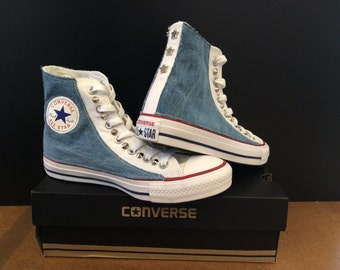 Denim and Stars Converse Chuck Taylor All Star! Custom Shoes! Be Yourself, Free Yourself!