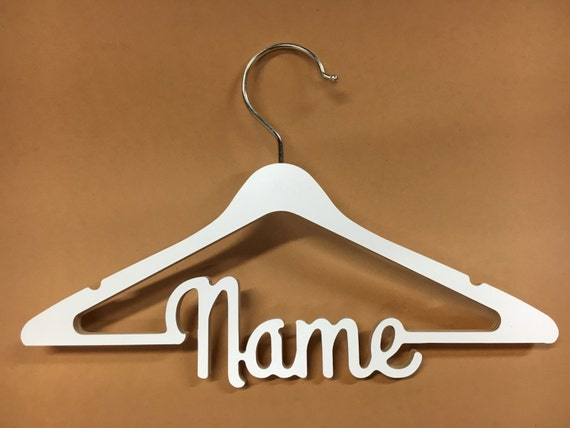 personalized children clothes hanger custom name gift