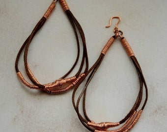 Wire Wrapped Cotton Earrings