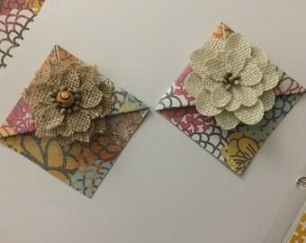Origami bookmark corner- set of 2