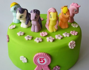 personalised edible cake decoration MY LITTLE PONY cake toppers edible birthday decoration personalised icing