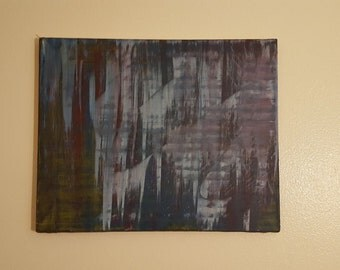 Blue art abstract painting acrylic